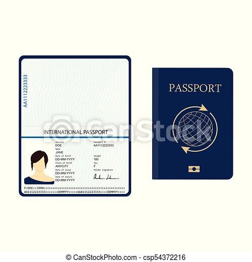 identification, passeport, document - csp54372216