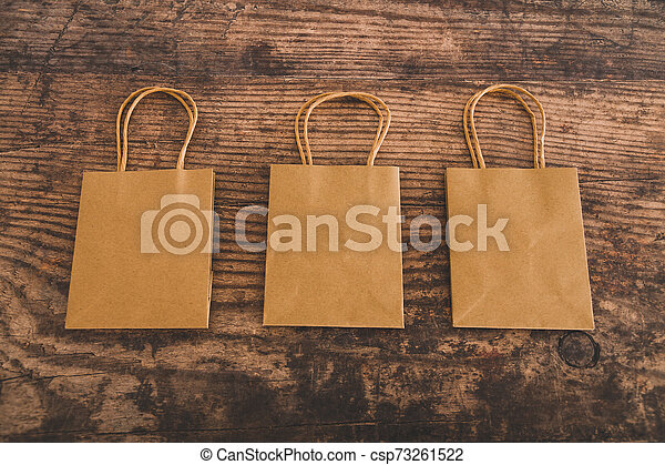 identique, sacs, achats, papier, bureau, groupe - csp73261522