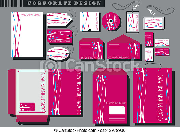 identité corporation, gabarit - csp12979906