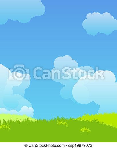 Idillyc landscape illustration - csp19979073