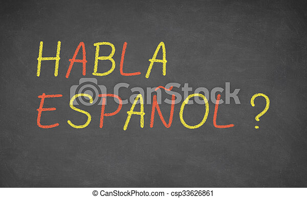 idioma, concepto, image., aprendizaje, español - csp33626861