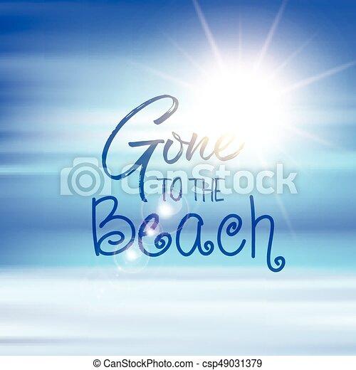 Se fue a la cita de fondo de la playa - csp49031379