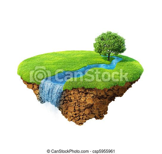 Idyllic natural landscape - csp5955961