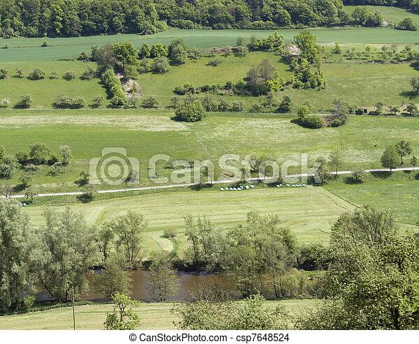 idyllic spring scenery in Hohenlohe - csp7648524