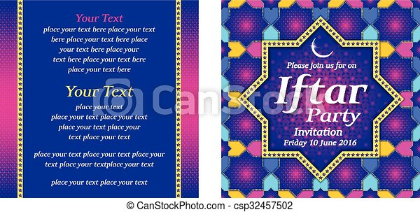 Iftar party invitation with islamic star pattern vector clipart iftar party invitation csp32457502 stopboris Images