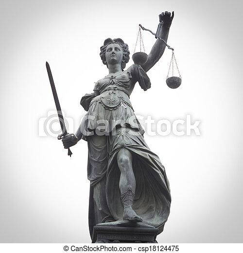 igazságosság, hölgy - csp18124475
