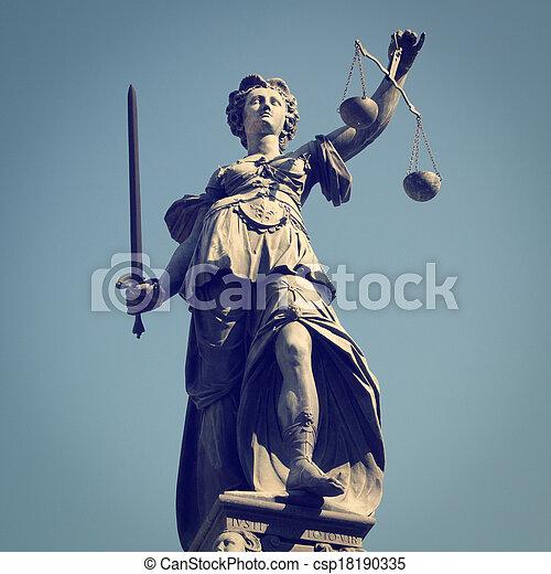 igazságosság, hölgy - csp18190335