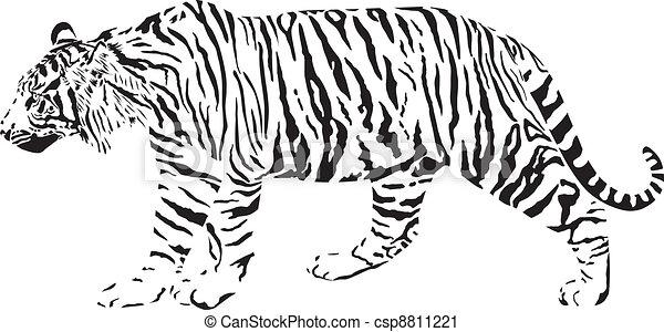 iger - Black and white vector illus - csp8811221