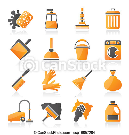 igiene, pulizia, icone - csp16857284