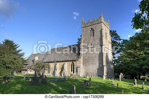 Iglesia Cotswold en Ebrington - csp17308289