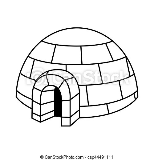 igloo exterior isolated icon vector illustration design vector clip rh canstockphoto com igloo clipart picture igloo clipart cute
