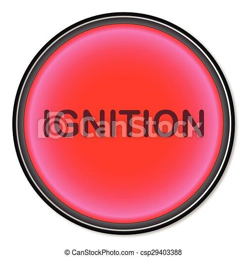 Ignition Button - csp29403388