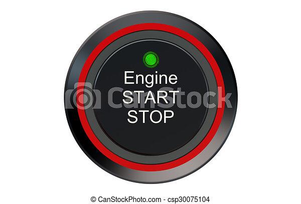 Ignition start button - csp30075104