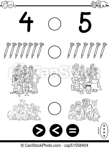 Un libro de colores más grande o igual - csp51558404