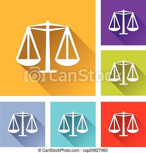 iconos de igualdad - csp24927060