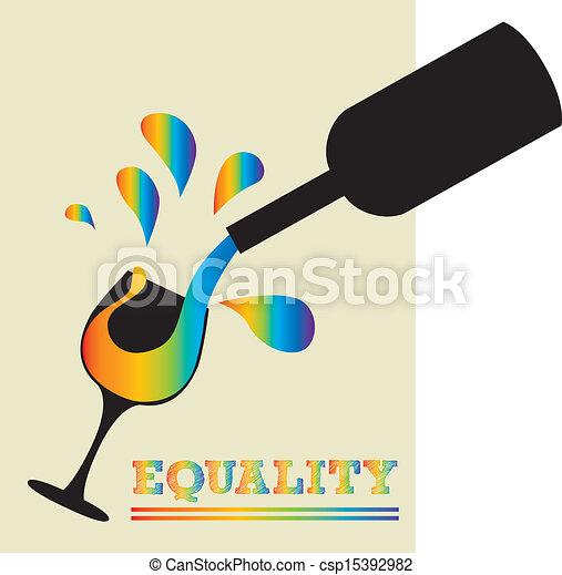 Vino de igualdad - csp15392982