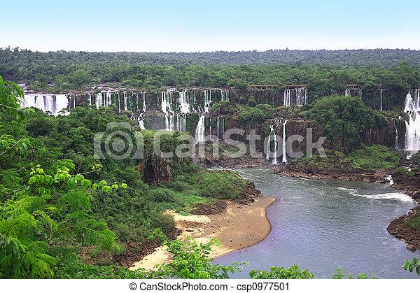 Iguassu (Iguazu; Iguaçu) Falls - Large Waterfalls - csp0977501