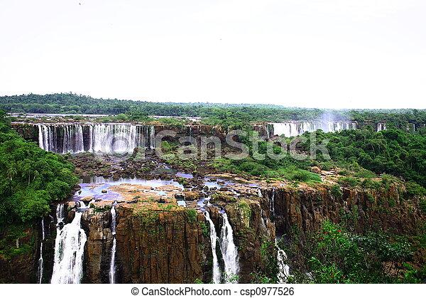 Iguassu (Iguazu; Iguaçu) Falls - Large Waterfalls - csp0977526