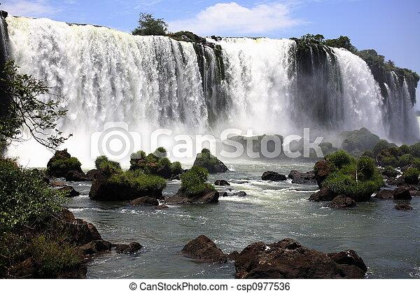 Iguassu (Iguazu; Iguaçu) Falls - Large Waterfalls - csp0977536