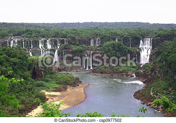 Iguassu (Iguazu; Iguaçu) Falls - Large Waterfalls - csp0977502
