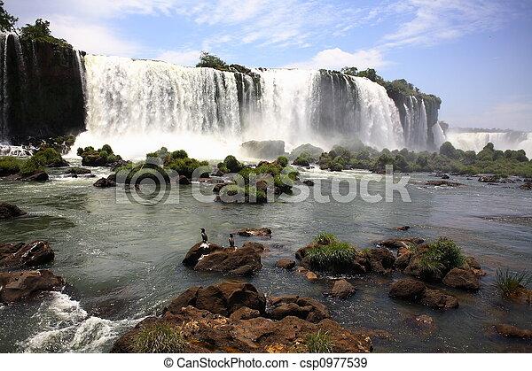 Iguassu (Iguazu; Iguaçu) Falls - Large Waterfalls - csp0977539