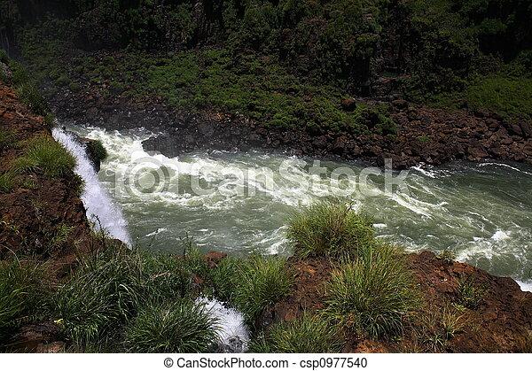 Iguassu (Iguazu; Iguaçu) Falls - Large Waterfalls - csp0977540