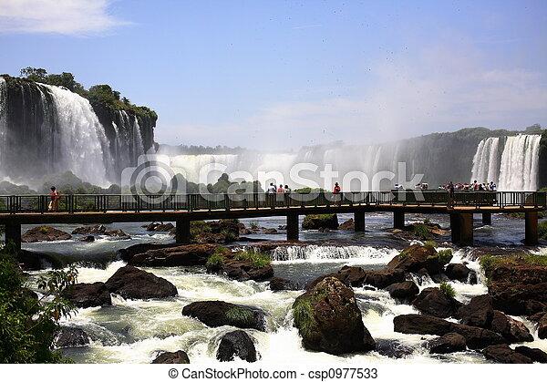 Iguassu (Iguazu; Iguaçu) Falls - Large Waterfalls - csp0977533