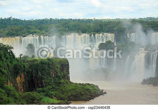 Iguazu waterfalls on the border of Argentina and Brazil - csp23446438