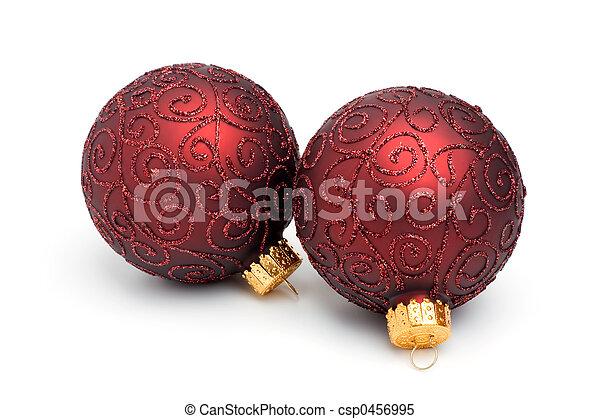 ii, par, árvore, ornamentos natal - csp0456995