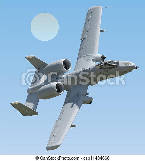 ii, vecteur, coup foudre, a-10, warthog - csp11484666