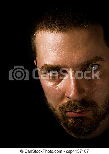 ijedős, szemek, férfias, arc - csp4157107