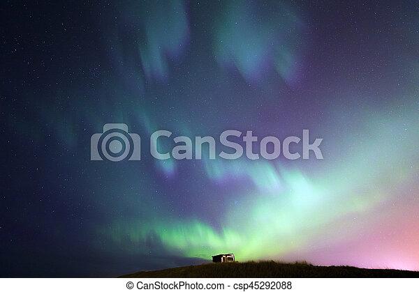 ijsland, noorderlicht, licht, noordelijk - csp45292088