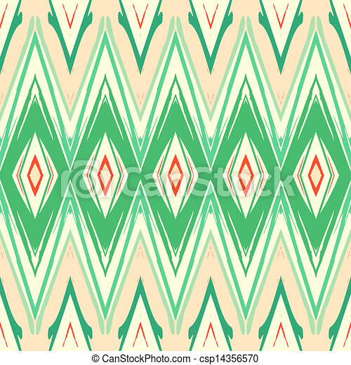 Ikat Pattern Modern Geometric Pattern In Soft Organic Colors And