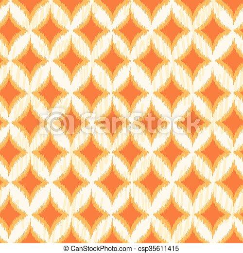 Ikat Seamless Pattern - csp35611415