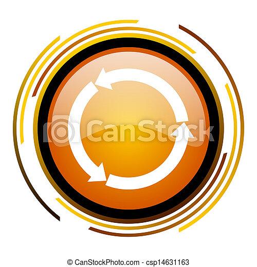 ikon, felfrissít - csp14631163