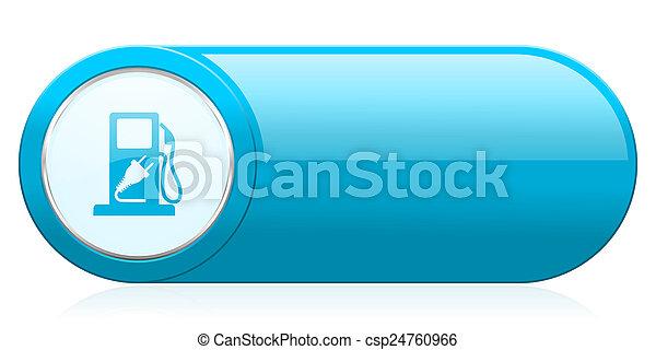 ikon, underteckna, drivmedel, hybrid - csp24760966