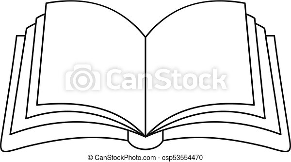 Ikona Publikacja Książka Szkic Style Sieć Wektor Szkic Ilustracja Książka Publikacja Icon Ikona Canstock