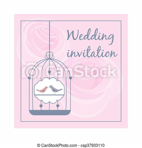 Ikona Styl ślub Rysunek Zaproszenie Styl Zaproszenie Tło