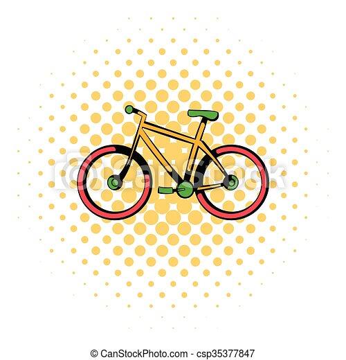 Ikone Comics Stil Fahrrad