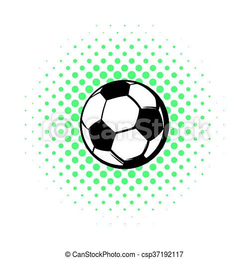 Ikone Comics Stil Fussball Ball Stil Kugel Comics