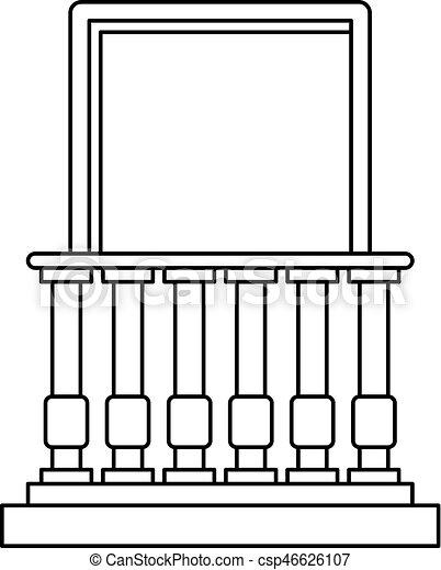 Ikone Stil Brustung Grobdarstellung Balkon Web Grobdarstellung