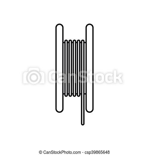 Ikone, stil, elektrisch, kabel, grobdarstellung. Stil,... EPS Vektor ...