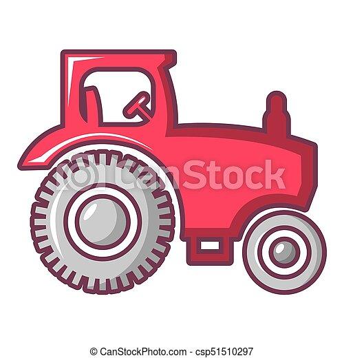 Ikone Stil Karikatur Traktor