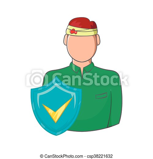 Ikone Stil Ungluck Versicherung Karikatur Mann Stil Seine