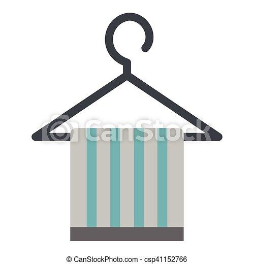 Kleiderbügel clipart  Clipart Vektorbild von ikone, wohnung, stil, kleiderbügel ...
