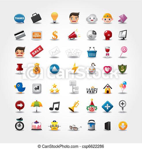 ikonen, nät internet, sätta, websajt, &, ikonen - csp6622286