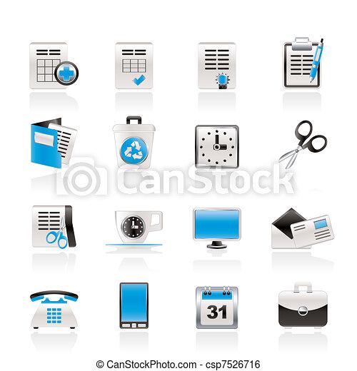 ikonen, redskapen, kontor, affär - csp7526716