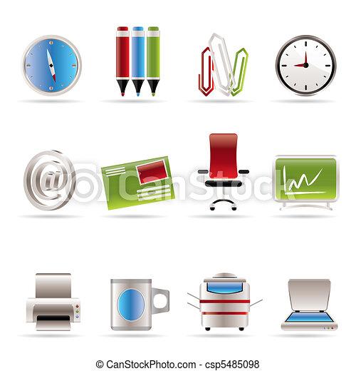 ikonen, redskapen, kontor, affär - csp5485098