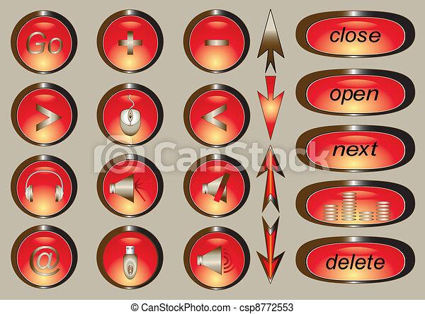 ikonen, redskapen, kontor, affär - csp8772553