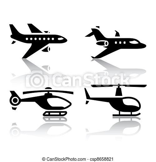 ikonen, sätta, transport - csp8658821